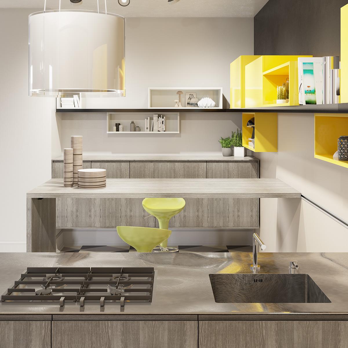amalfi full, la nuova cucina firmata del tongo - abita design - Del Tongo Cucine Prezzi