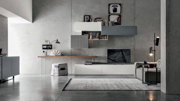 Moderno, geometrico e funzionale: il living firmato Abita design.